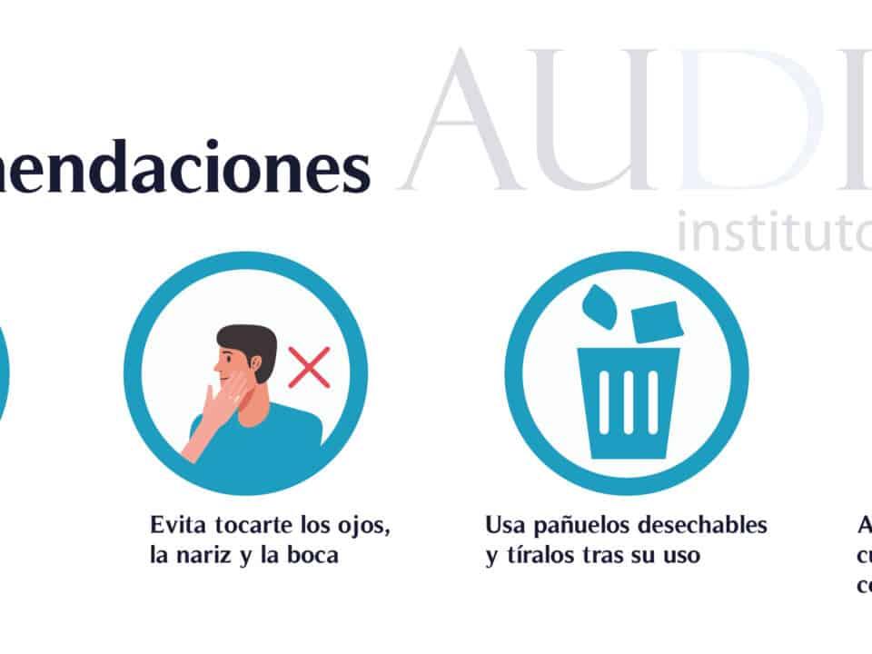 Audias Centro Auditivo, audífonos y protección auditiva Aviso Servicios Mínimos